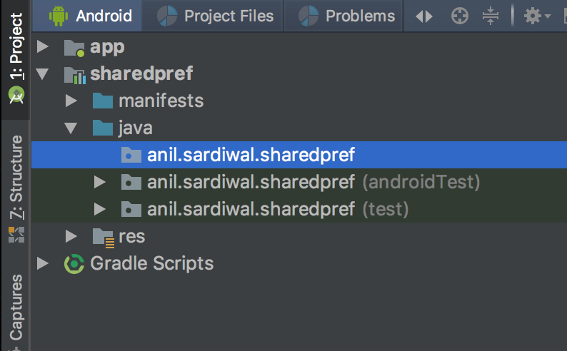 Android Studio Library Module in Projects Tab